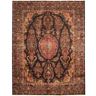 Herat Oriental Persian Hand-knotted Tribal Kashmar Wool Rug (9'7 x 12'3)