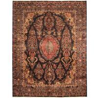 Herat Oriental Persian Hand-knotted Tribal Kashmar Wool Rug (9'7 x 12'3) - 9'7 x 12'3