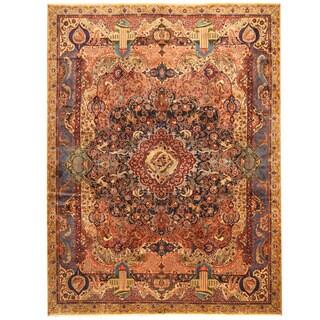 Herat Oriental Persian Hand-knotted Tribal Kashmar Wool Rug (9'7 x 12'8) - 9'7 x 12'8