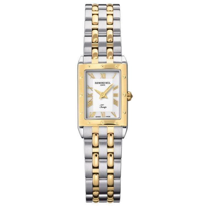 Raymond Weil Women's 5971-STP-00308 'Tango' Two-Tone Stainless Steel Watch (Raymond Weil Women's 5971-STP-00308)