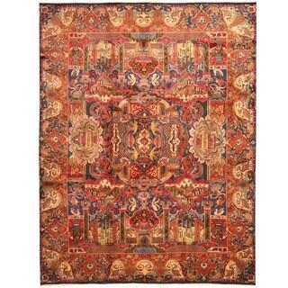 Herat Oriental Persian Hand-knotted Tribal Kashmar Wool Rug (9'8 x 12'9)