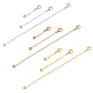 Link to Gold Over Sterling Silver Necklace, Bracelet, And Anklet Extender Set (white, rose or yellow) Similar Items in Necklaces