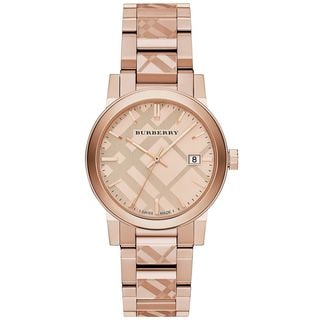 Burberry Women's BU9039 'The City' Rose-Tone Stainless Steel Watch
