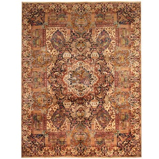 Herat Oriental Persian Hand-knotted Tribal Kashmar Wool Rug (9'10 x 12'9)