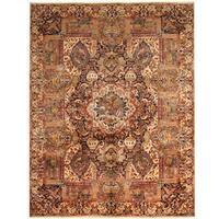 Herat Oriental Persian Hand-knotted Tribal Kashmar Wool Rug (9'10 x 12'9) - 9'10 x 12'9
