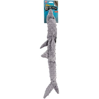 "Skinneeez Extreme 3 Squeaker Stuffing Shark Free Dog Toy 25"""