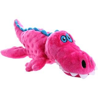 GoDog Pink Gator With Chew Guard Large