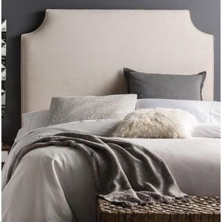 Humble + Haute Raleigh Tall Full Size Velvet Ivory Upholstered Headboard