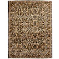 Handmade Herat Oriental Persian Tribal Kashan Wool Rug (Iran) - 9'10 x 13'