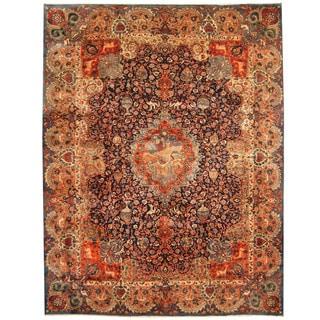 Herat Oriental Persian Hand-knotted Tribal Kashmar Wool Rug (10' x 12'9)