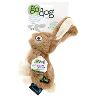 GoDog Wildlife Rabbit With Chew Guard Small