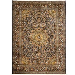 Herat Oriental Persian Hand-knotted Tribal Kashmar Wool Rug (9'9 x 12'10)