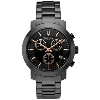 Bulova Men's 98B197 Stainless Steel Chronograph Watch with 30M Water Resistance and Date Window