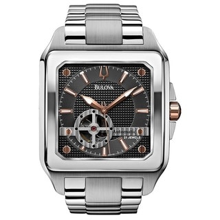 Bulova Men's 98A132 Stainless Steel 21 Jewel Automatic with a Skeletonized Dial and Caseback Watch with 30M Water Resistance
