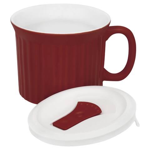 Corning Ware 1105118 22 Oz Red Corning Ware Mug
