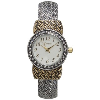 Olivia Pratt Women's Metal Alloy Link Pattern Cuff Fashion Watch