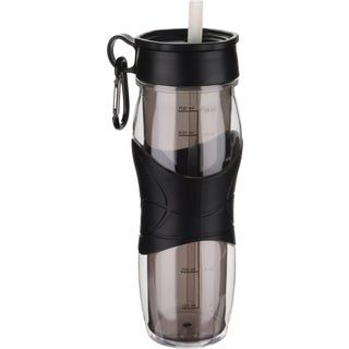 Trudeau 0871135 24 Oz Black Cool Off Hydration Bottle