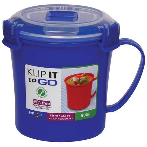 Sistema 21107 Klip It Soup Mug To Go Assorted Colors