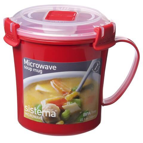 Sistema 1107 Microwavable Soup Mug Assorted Colors