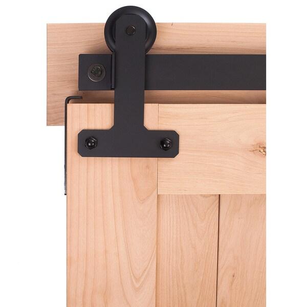 BDH Black/Bronze/Silver Metal Cellar Style Barn Door Hardware System
