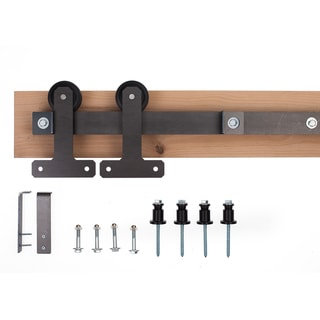 Ironwood Black/Bronze/Silver Metal Cellar-style Barn Door Hardware System