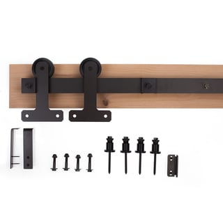 Ironwood Black/Bronze/Silver Metal Cellar-style Barn Door Hardware System