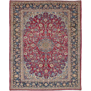 eCarpetGallery Vintage Red Wool Hand-knotted Persian Rug (10'5 x 12'11)