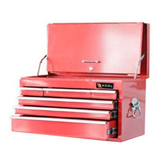ExcelHardware Red Metal Transformable Rolling Workstation Cart