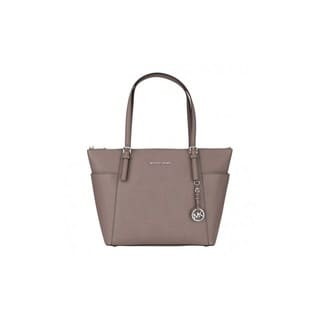 Michael Kors Jet Set Grey Leather Large Top-zip Tote