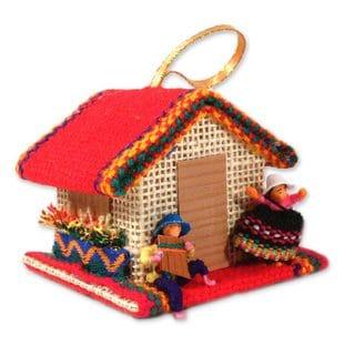 Handmade Set of 3 Our House Ornaments (Peru)