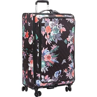 Guess Fortuna Collection Black Polyester 28-inch Upright Spinner Suitcase