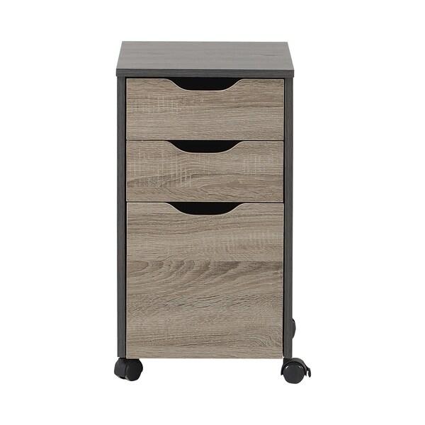 Shop Homestar Reclaimed Wood 3 Drawer Filing Cabinet On