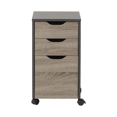 Homestar Reclaimed Wood 3-drawer Filing Cabinet