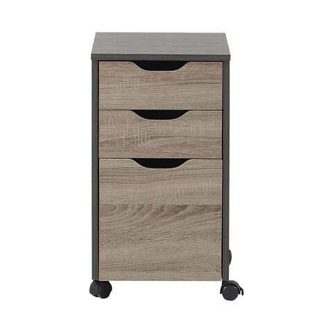 Homestar Reclaimed Wood 3-drawer Filing Cabinet