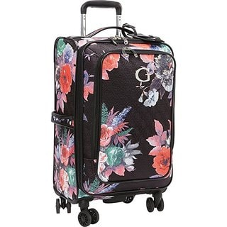 Guess Fortuna Collection Black Fabric 20-inch Carry-On Upright Spinner Suitcase
