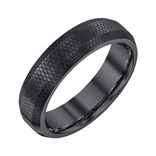 Men's Black Tungsten 6-millimeter Band