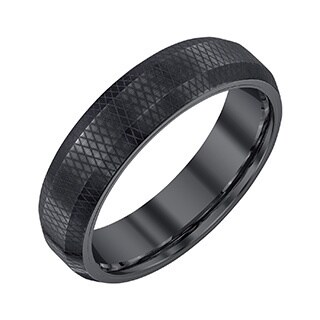 Men's Black Tungsten 6-millimeter Band by Ever One