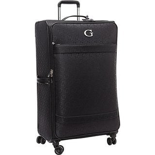 Guess Fenner Collection Black Polyester 28-inch Upright Spinner Suitcase