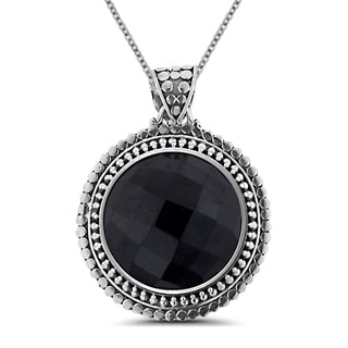Sterling Silver Onyx 18-inch Necklace