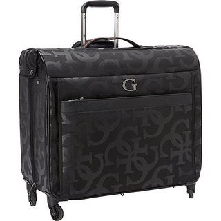 Guess Amador Collection Black Nylon/Polyester Rolling Garment Bag