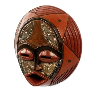 Praise God African Wood Mask (West Africa)