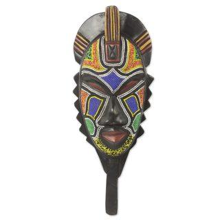 Handmade Swahili Healer Rubber Wood Mask (Ghana)