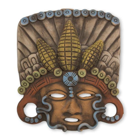 Handmade In Honor of Maize Ceramic Mask (Mexico)
