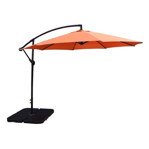 Oakkand Living Orange 10 Foot Polyester Troy Umbrella And