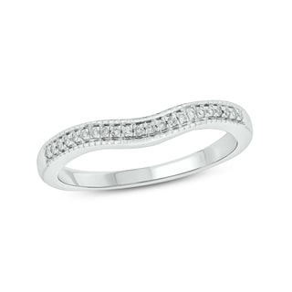 10K White Gold 1/10ct TDW White Diamond Anniversary Band