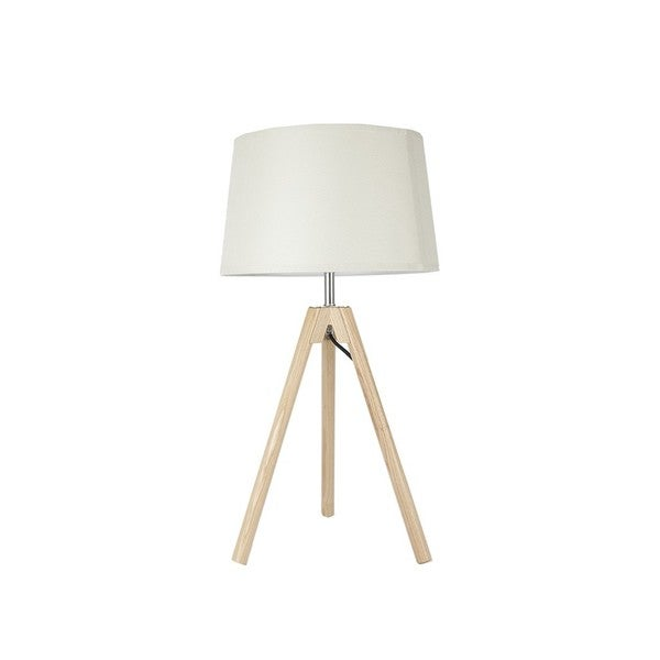 Wood Tripod Table Lamps with Empire Shade