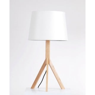 Wood Tripod Table Lamp with Empire Shade