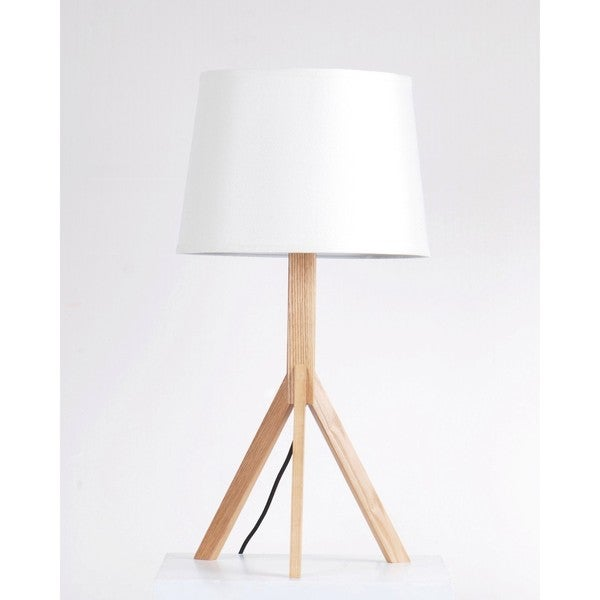 Shop Wood Tripod Table Lamp With Empire Shade Free Shipping Today