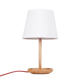 Wood 15.6-inch Table Lamp With Empire Shade