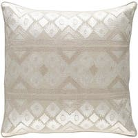 Decorative Sigatoka 22-inch Feather Down or Poly Filled Throw Pillow